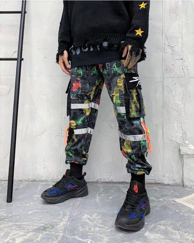 マルチカラーコットンカーゴジョガーパンツの画像4